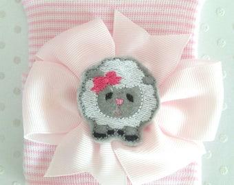 Newborn Lamb Hospital Hat - baby girl lamb hat-newborn girl lamb beanie-lamb baby beanie