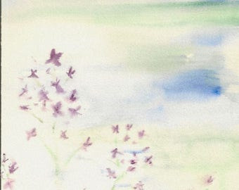 Flowers Watercolor Painting-ORIGINAL Painting-not a print-Painting of Flowers-Springtime-Summer