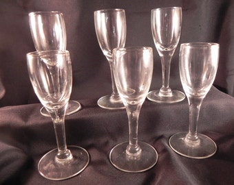 Vintagel Liquor Glasses Cordials All Six with Stems