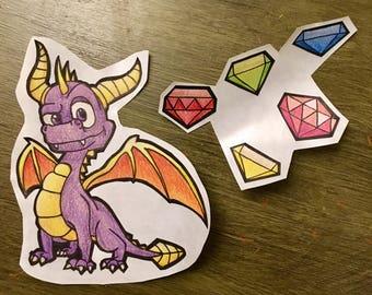Spyro The Dragon Sticker Sets
