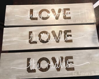 Personalized wood signs