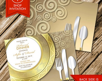 Dinner Plate Invitation (Free Shipping)