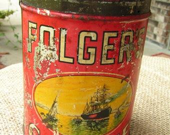 Folger's Coffee Tin