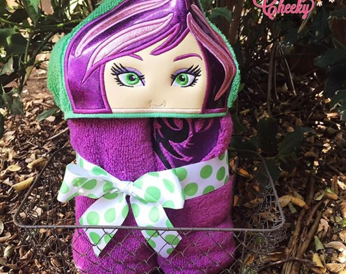 Dragon Princess Inspired Hooded Towel - Evie - Mal - Disney Vacation - Disney Birthday - Disney Descendants