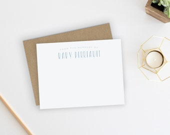 Baby Thank You Cards. Baby Thank You Notes. Baby Stationery. Baby Stationary. Notecards. Baby Shower. Thank You Notes. From the Nursery Of.