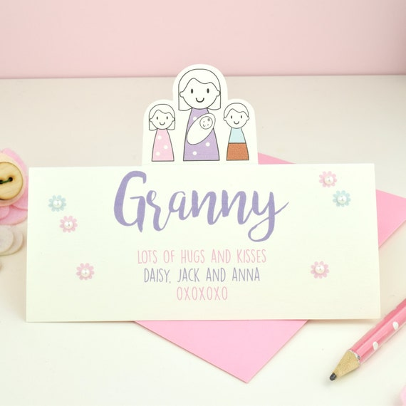 Personalised Grandma's card - Mother's Day - granny - grandmother - card