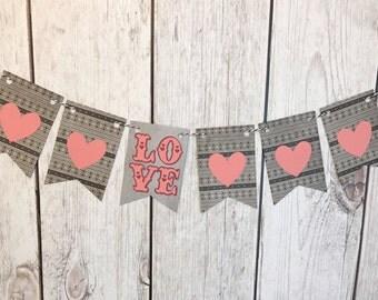 Heart Valentines Day Banner, Valentine
