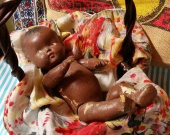 Wooden Composition Baby Doll