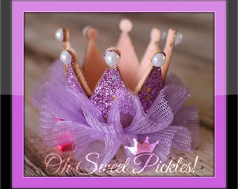PRINCESS Purple/Lavender CROWN - Made 2 Match Our Tutus - Perfect For Photo Shoots, Birthdays, Holidays etc