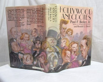 Hollywood Anecdotes, Paul F. Boller Jr. & Ronald Davis, 1982 Hardcover First Edition stories, turn of the century to the 1980s Book