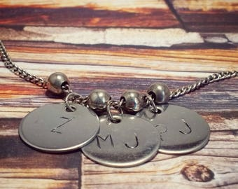 Mother's or Grandmother's Necklace, Silver Plated Pewter, CUSTOM