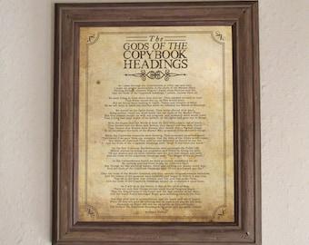 "The Gods of the Copybook Headings by Rudyard Kipling - 11"" x 14"" & 8.5"" x 11"" Printable Wall Art"