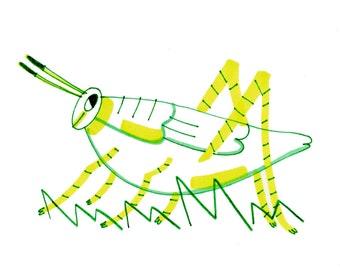 Grasshopper Guy (Original Drawing)