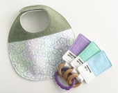 Gift Set - Patterned Bib & Color Swatch Toy