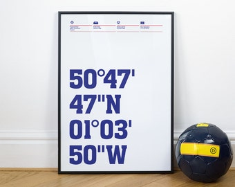 Portsmouth Football Stadium Coordinates Posters