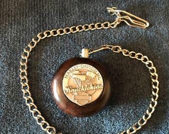 Harley Davidson KNUCKLEHEAD Wood Pocket Watch
