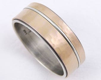 mens gold wedding ring 14k or 9k gold ringsilver gold ringyellow - Mens Rose Gold Wedding Rings