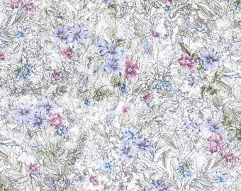 Floral Fabric, Spring Fabric, Easter Fabric, Flowers, Lavender, Blue, RoseQuilt Fabric,
