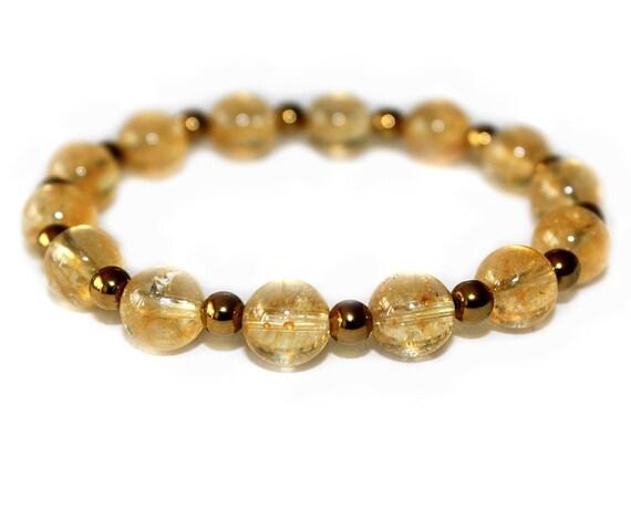 Citrine bracelet, Healing bracelet, 8mm gemstone bracelet, Yoga jewelry, Yoga accessories