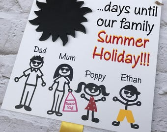 Days until our Holiday countdown plaque, Holiday countdown chalkboard