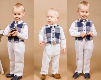Wedding boy outfit Baby boy outfit Ring bearer outfit Boy wedding outfit Baptism suit Christening outfit Baptism outfit Wedding boy set