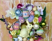 SALE  Easter wreath; ornament wreath; Spring wreath; Easter egg wreath; Bunny wreath