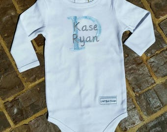 Baby Boy Onesie with Name