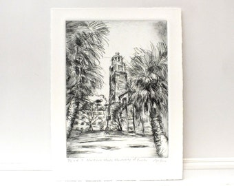 Northcote House, University of Exeter, Drypoint