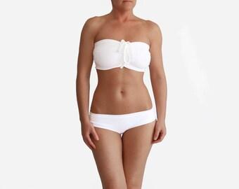 White Bikini, White Swimsuit, White Swimwear, Bathing Suit Women, Curvy Woman, Retro Swimwear, Swimsuit Modest, DDD White Bikini