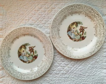 American Limoges Bread Plates - Set of 2
