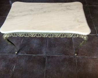 Marble And Gilt Mid Century Coffee Table