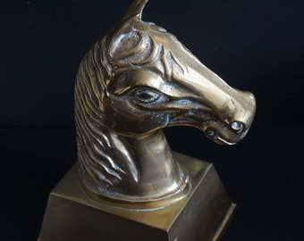 FREE SHIPPING, Vintage, Large Brass Horse Head