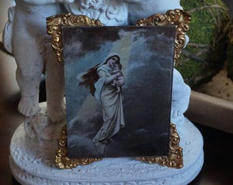 Vintage, Madonna with Child Plaque/Wall Hanging