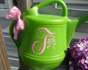 Monogram Watering Can, Personalized Watering Can, Garden watering Can