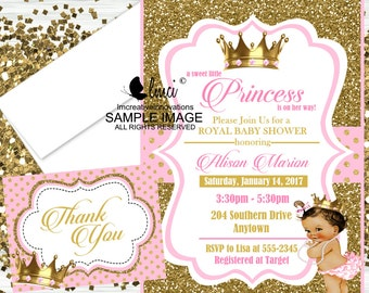 Royal Princess Baby Shower Invitation, Little Princess Invitation, Little Queen Invitation - Digital File or Printed