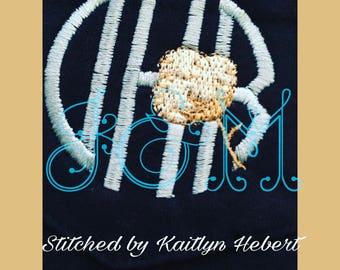 Cotton Boll Mini Embroidery Motif Design