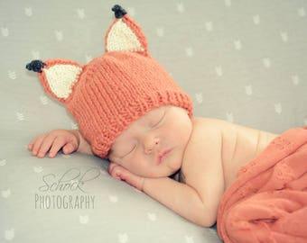 Fox Newborn Hat • Baby Fox Hat • Fall Baby Hat • Fox Baby Hat • Woodland Baby Hat • Fox Baby Shower Gift • Fox Baby Gift • Baby Shower Gift