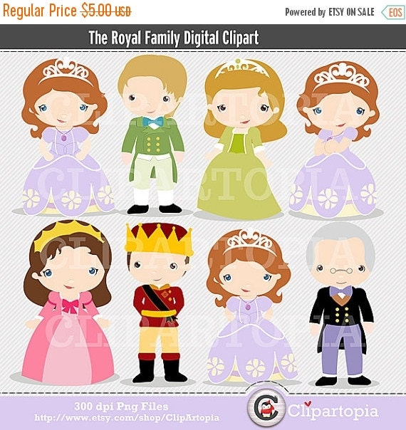 50% OFF SALE The Royal Family Digital Clipart for Personal and Commercial Use /INSTANT Download