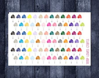 Balloon stickers for your erin condren life planner, happy planner, filofax, kikki k or any planner