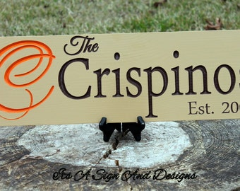 Wedding Name Sign, Personalized Name Wood Sign with Initial. Wedding Gifts, Bridal Shower or Anniversary, Personalized Wedding Gift, Wife
