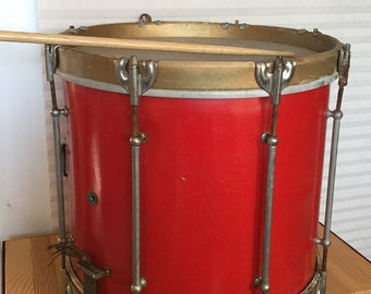 Antique Bright Red Marching Band Drum