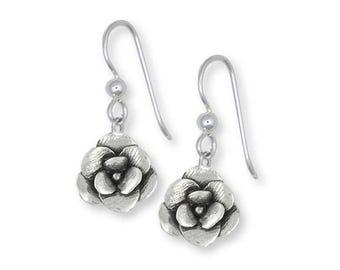 Magnolia Earrings Jewelry Sterling Silver Handmade Flower Earrings MG5-FW