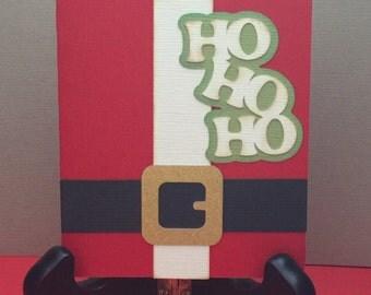 Christmas Gift Card Holder, Paper Piecing, Die Cut, Santa, PreMade, Stocking Stuffer, Handmade