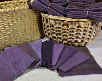 Heirloom Iris, Hand-Dyed Wool Fabric for Rug Hooking, Applique, Penny Rugs, Quilting, 8 - One Sixteenth Yard Pieces W260