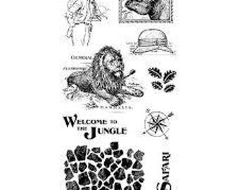 Graphic 45 SAFARI ADVENTURE 3 Cling Stamps IC0364S cc55