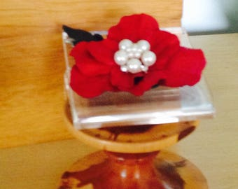 LEATHER FLOWER Adornment Brooch Hair clip Embellishment