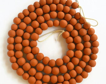 30 Terracotta Beads, Essential oil beads, absorbent terracotta beads, Handmade Beads,  African Beads, small terracotta beads, diffuser beads