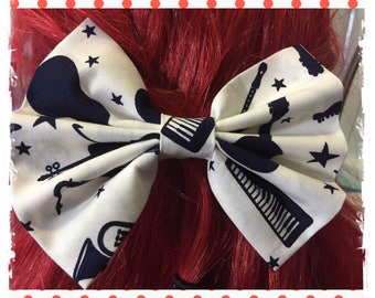 Musical Instruments Hair Bows