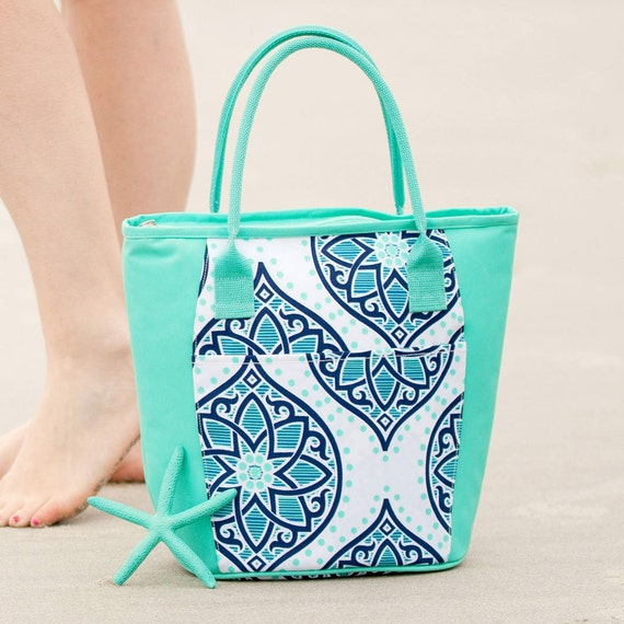 boho cooler  Ultimate tote bag navy blue oversized bag monogrammed tote bag beach bag pool bag summer bag monogrammed gift