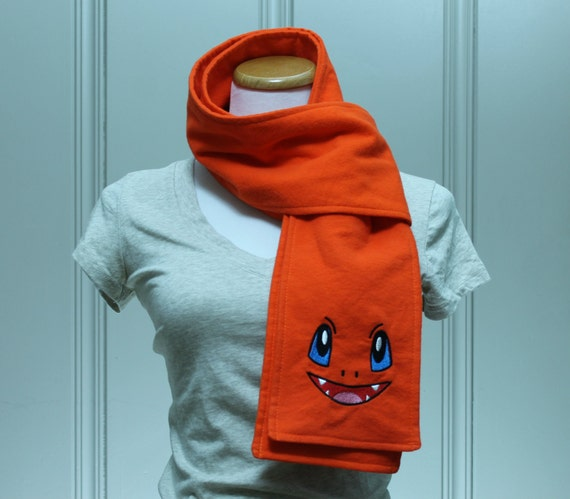 SALE Char Face Orange Flannel Scarf